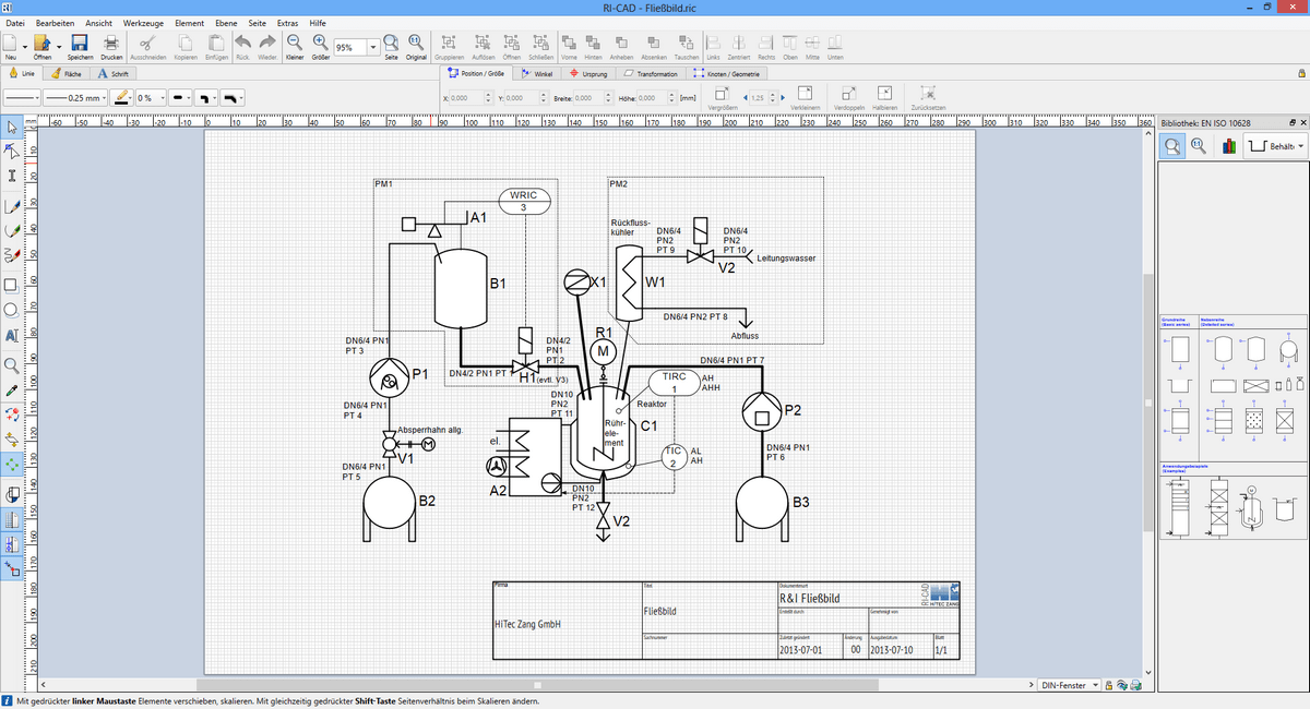 ri cad™ cad program for ri flow diagrams hitec zang gmbh Document Process Flow Diagram